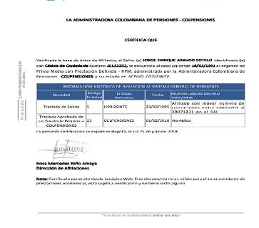 Certificado de recogida