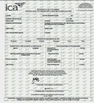 Certificado fitosanitario 12
