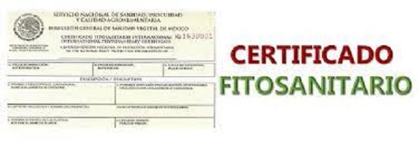 Certificado fitosanitario 1