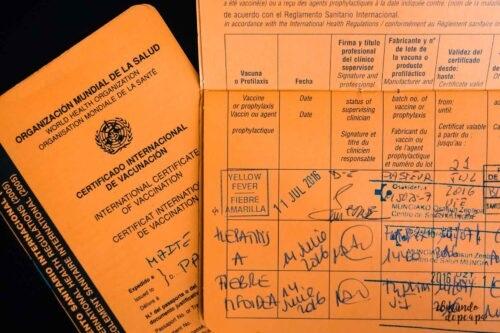 Certificado de vacuna