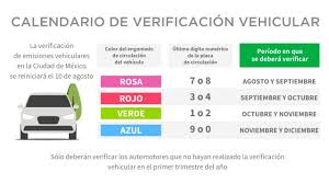 Calendario de pruebas del vehículo