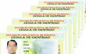 Nueva tarjeta de identidad de Bolivia