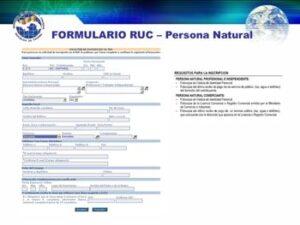 ¿Cuál es el formulario de registro RUC?