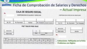 Comisiones de la hoja de datos de seguridad social