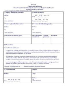 Modelo certificado original