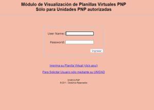 Cómo consultar el módulo PNP