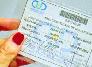 Certificado de finalización de una discapacidad NR