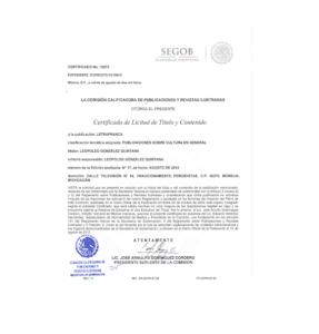 ¿Cuál es el certificado de título y la legalidad del contenido?