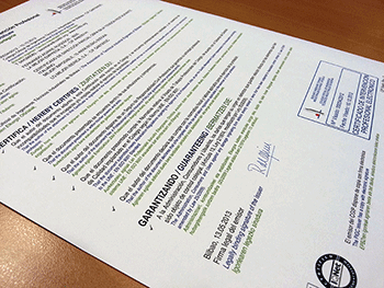 Este es un certificado de garantía