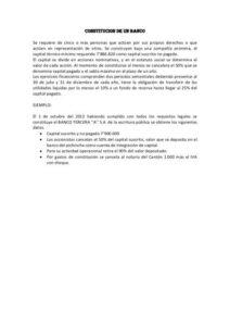 Establecimiento de un acuerdo bancario