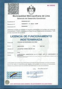 Conclusión de la licencia operativa