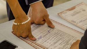Finalización del matrimonio civil