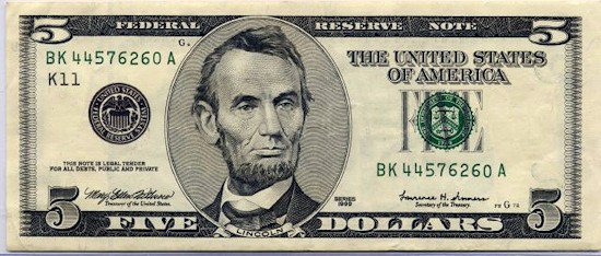 $ 5 - dólares hoy