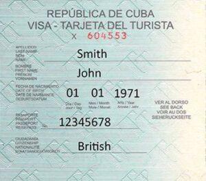 Boleto turístico de viaje a Cuba